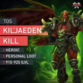 ToS Kil´Jaeden Kill Heroic Raid Personal Loot 915+ Legion The Deceiver Kill HC