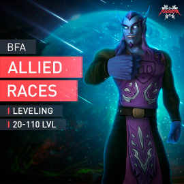 Allied Races Leveling 20-110 LVL Boosting Service Boost EU Servers WoW Accplay