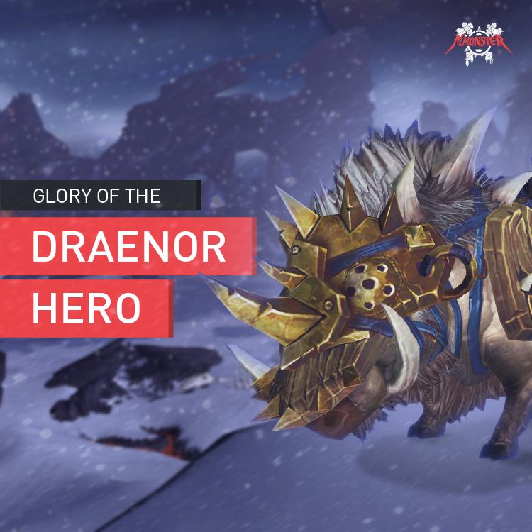 Glory of the Draenor Hero & Draenor Dungeon Hero Frostplains Battleboar Mount