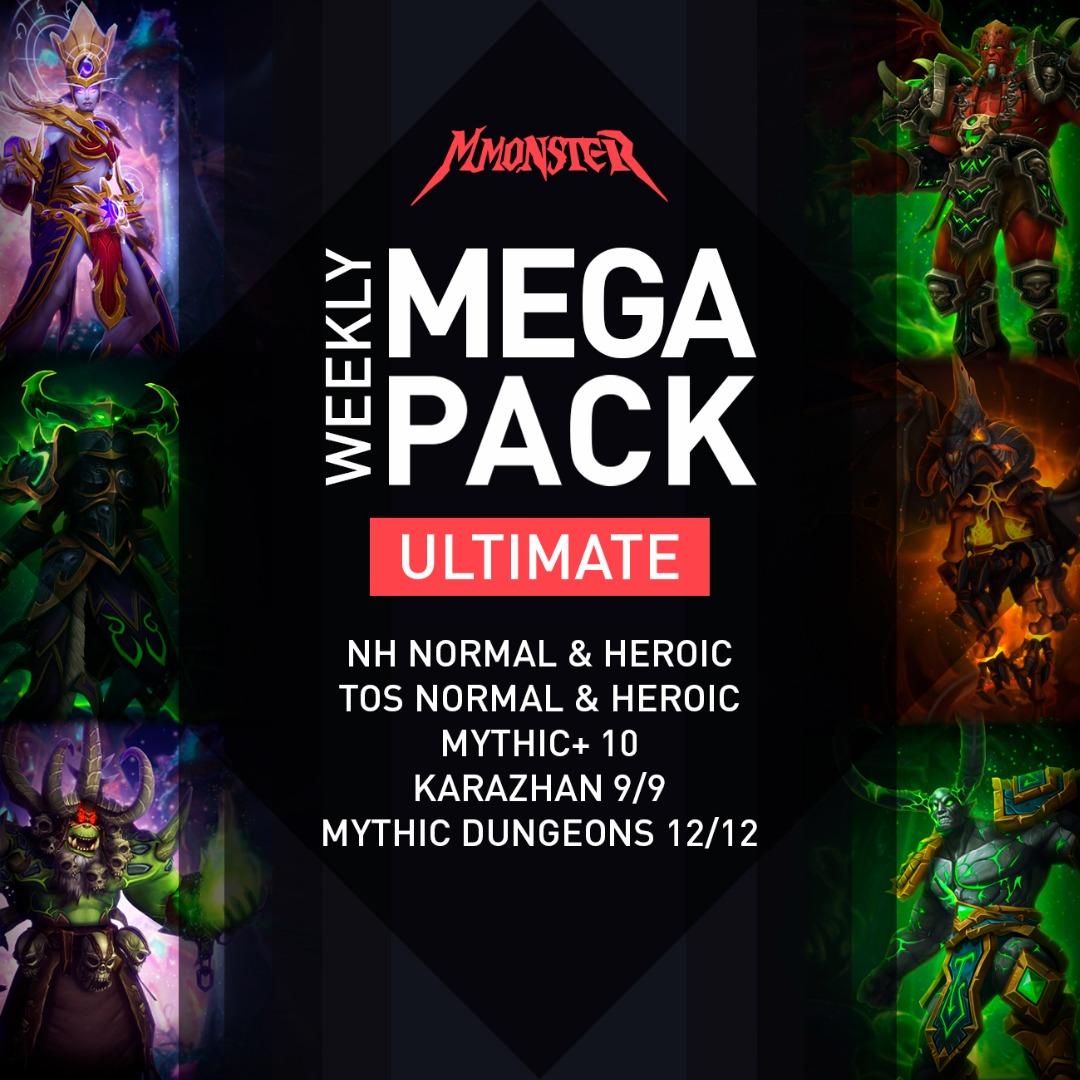 Weekly ULTIMATE MEGA Pack (100 Bosse) Raids Dungeons Mythic Plus WoW Loot Gear