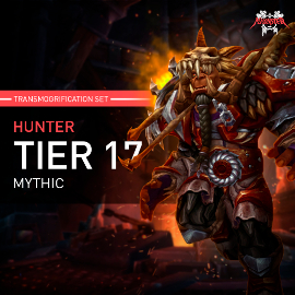 Hunter Tier T17 Look Full Set Mythic Transmogrification Set 7 Items Boost WoW