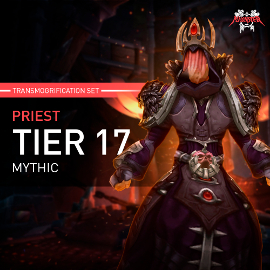 Priest Tier T17 Look Full Set Mythic Transmogrification Set 7 Items Boost WoW