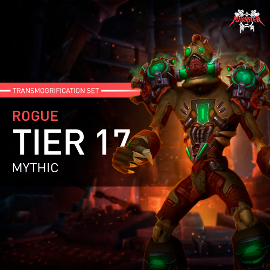 Rogue Tier T17 Look Full Set Mythic Transmogrification Set 7 Items Boost WoW