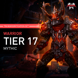 Warrior Tier T17 Look Full Set Mythic Transmogrification Set 7 Items Boost WoW