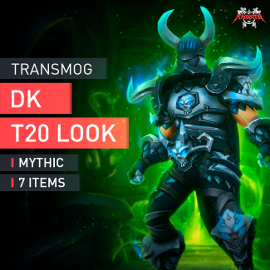 Death Knight Tier T20 Look Full Set Mythic Transmogrification Set 7 Items Boost WoW