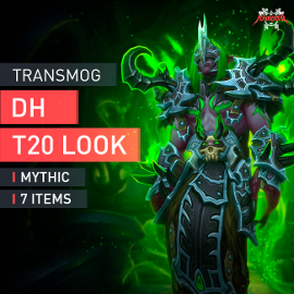 Demon Hunter Tier T20 Look Full Set Mythic Transmogrification Set 7 Items Boost WoW