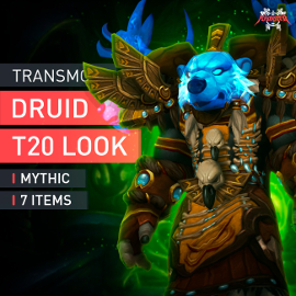 Druid Tier T20 Look Full Set Mythic Transmogrification Set 7 Items Boost WoW