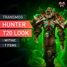 Hunter Tier T20 Look Full Set Mythic Transmogrification Set 7 Items Boost WoW