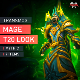 Mage Tier T20 Look Full Set Mythic Transmogrification Set 7 Items Boost WoW