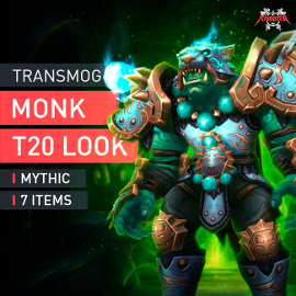Monk Tier T20 Look Full Set Mythic Transmogrification Set 7 Items Boost WoW
