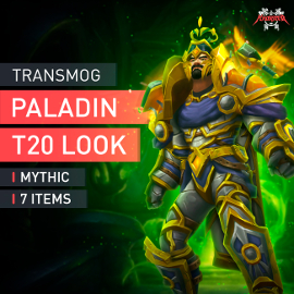 Paladin Tier T20 Look Full Set Mythic Transmogrification Set 7 Items Boost WoW
