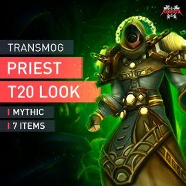 Priest Tier T20 Look Full Set Mythic Transmogrification Set 7 Items Boost WoW