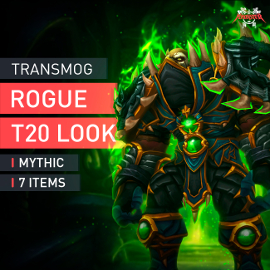 Rogue Tier T20 Look Full Set Mythic Transmogrification Set 7 Items Boost WoW
