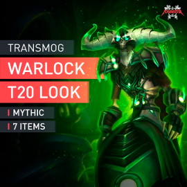 Warlock Tier T20 Look Full Set Mythic Transmogrification Set 7 Items Boost WoW