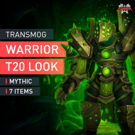 Warrior Tier T20 Look Full Set Mythic Transmogrification Set 7 Items Boost WoW