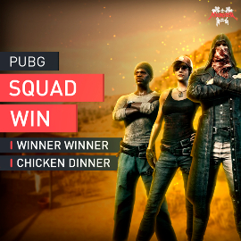 PUBG Squad Mode Win Boosting Boost Winner Winner Chicken Dinner Accplay [PC]